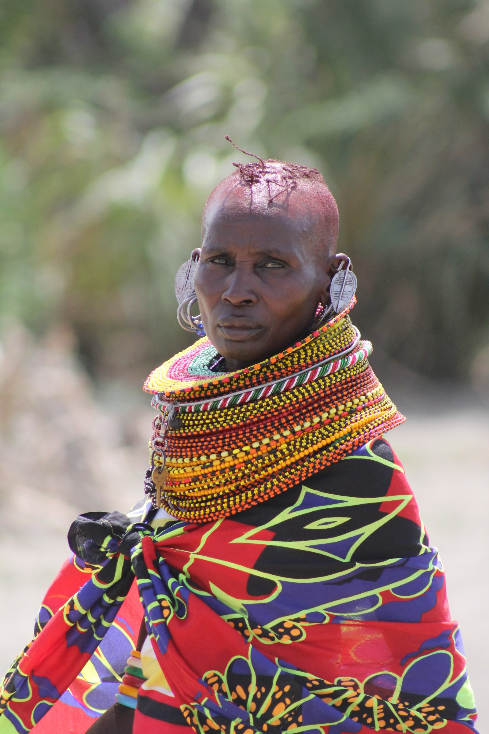 Turkana-kvinne på kulturfestival.