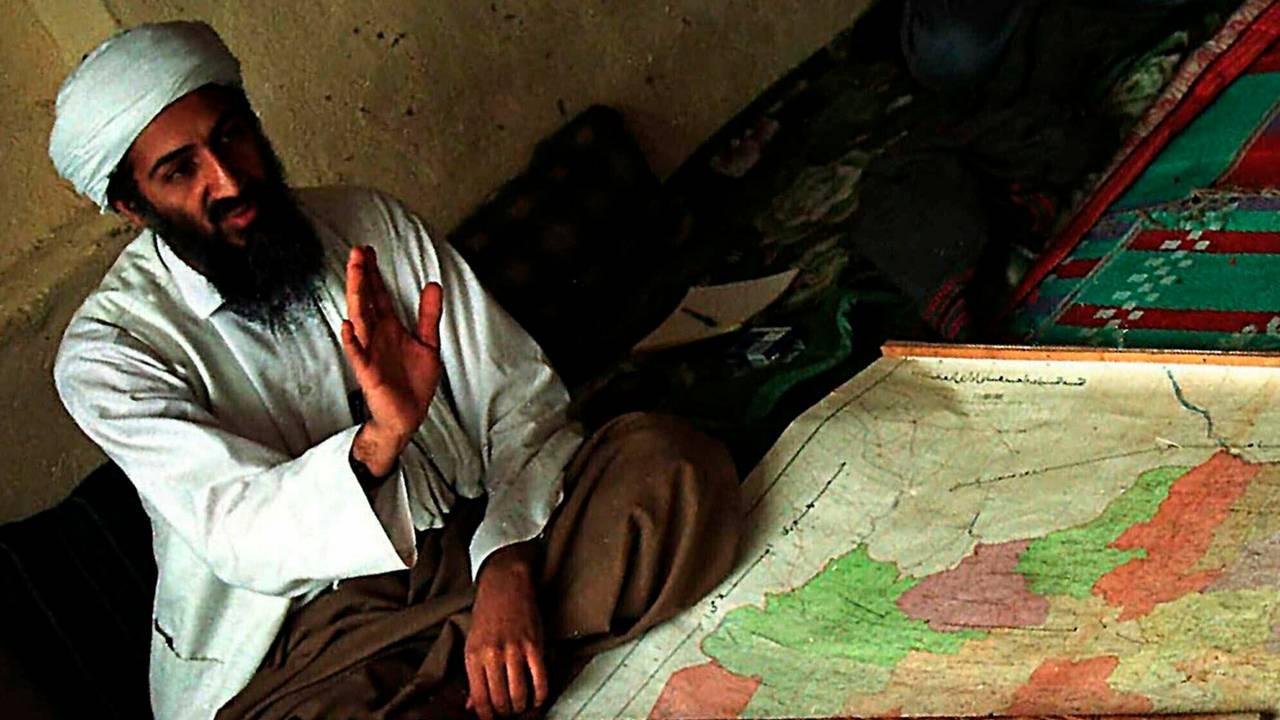 Al Qaida-lederen Osama bin Laden avbildet i Afghanistan i 1998.