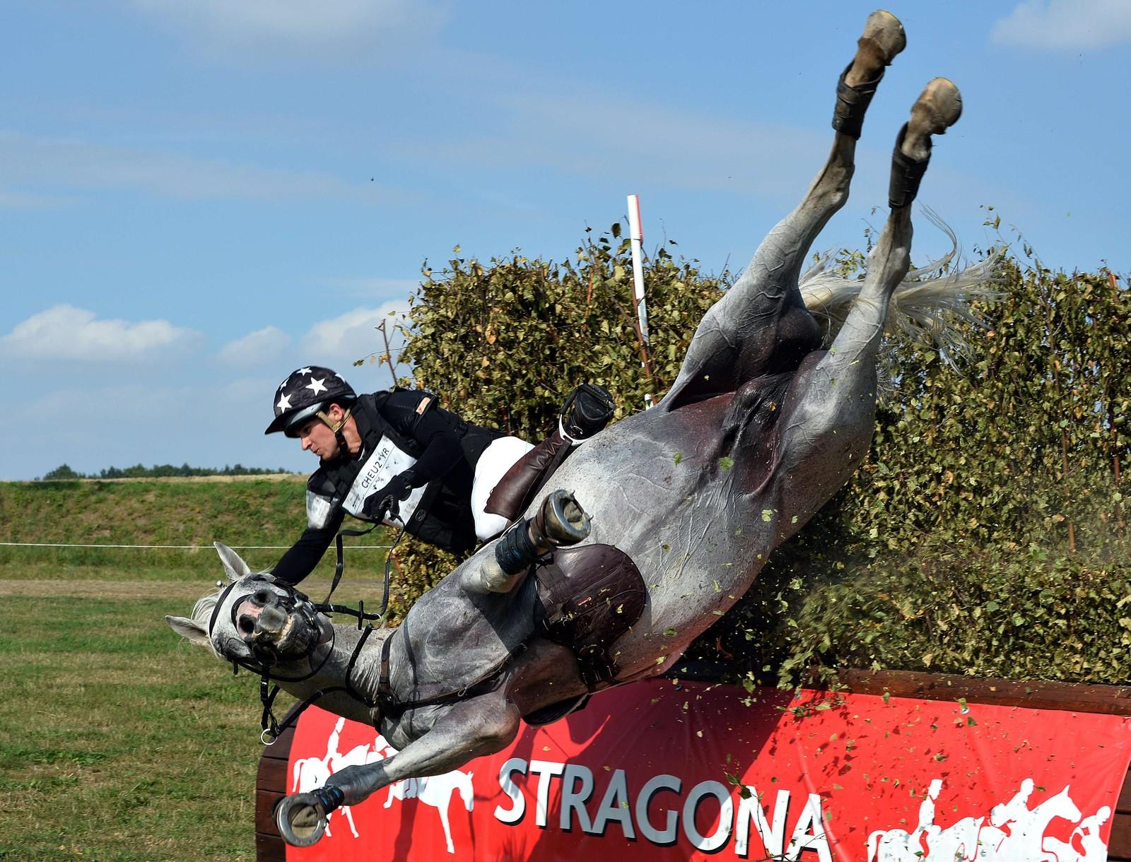 Den polske rytteren Aleksander Kadlubowski falt med hesten sin Devin Du Maury under EM for unge ryttere i Polen.