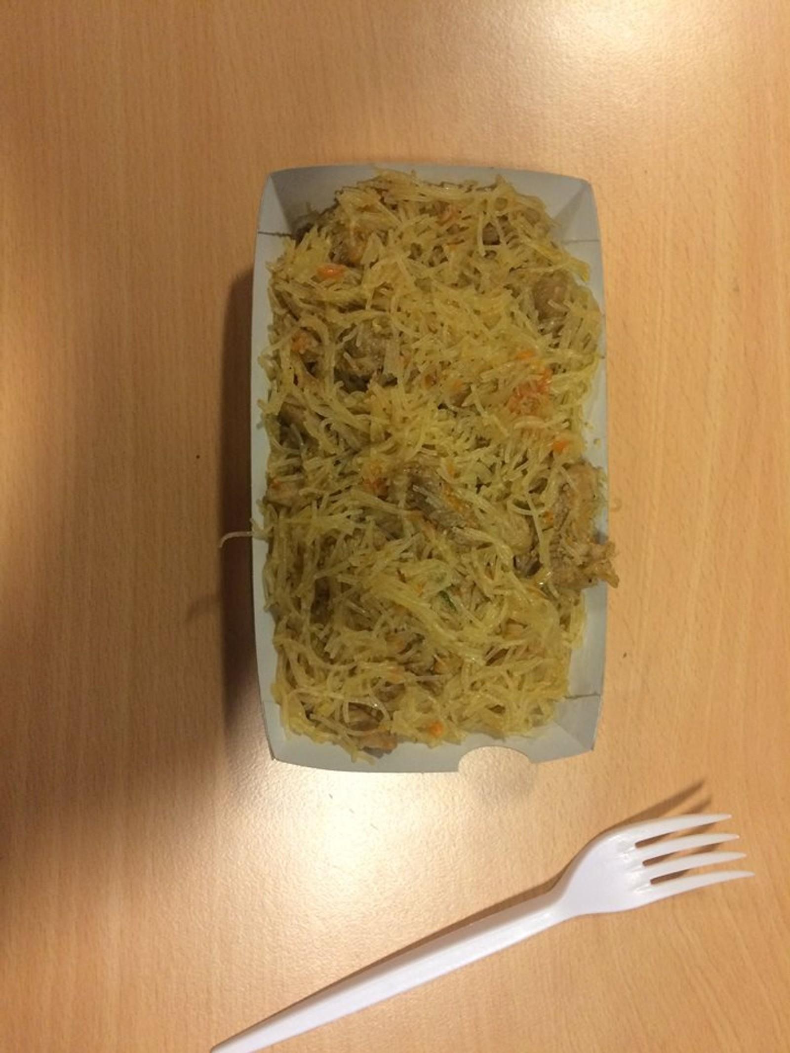 LANGHAUGEN: Tam på smaken og stusselig utseende, er dommen over denne pastaretten.