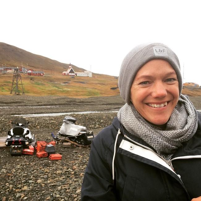 Maja Lunde på Svalbard
