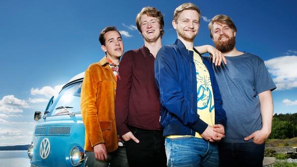Fire komikere på sin første og tilsynelatende siste turné