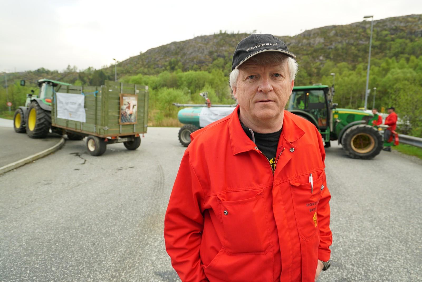 - Aksjonen har gått fredeleg for seg, seier organisasjonsleiar Lars Petter Taule i Hordaland bondelag. Han stilte seg opp ved Asko i Bergen.