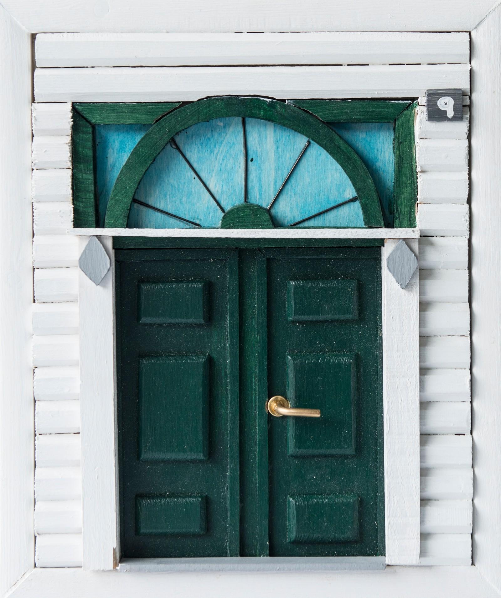 Hus frå gamle Lærdalsøyri - Sofie Flåten, Lærdal