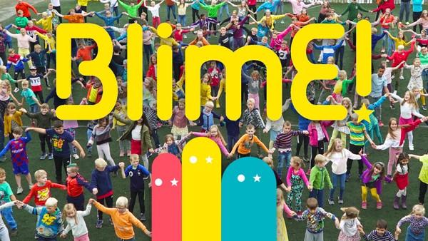 NRK Super inviterer alle barn i Norge til å bli med å danse BlimE-dansen.