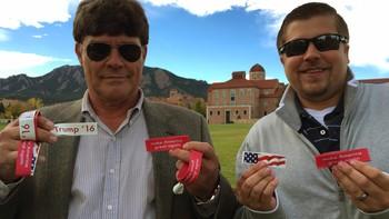 Bruce Simmons og kameraten i Colorado stemmer på Donald Trump