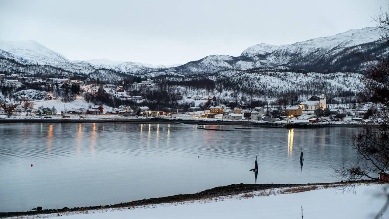 Talvik i Finnmark et av de utsatte områdene med høy faregrad.