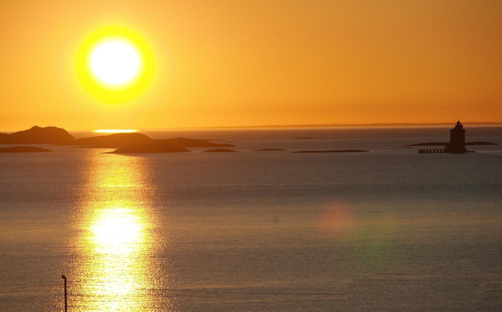 Kjeungskjæret med holmene i solnedgang