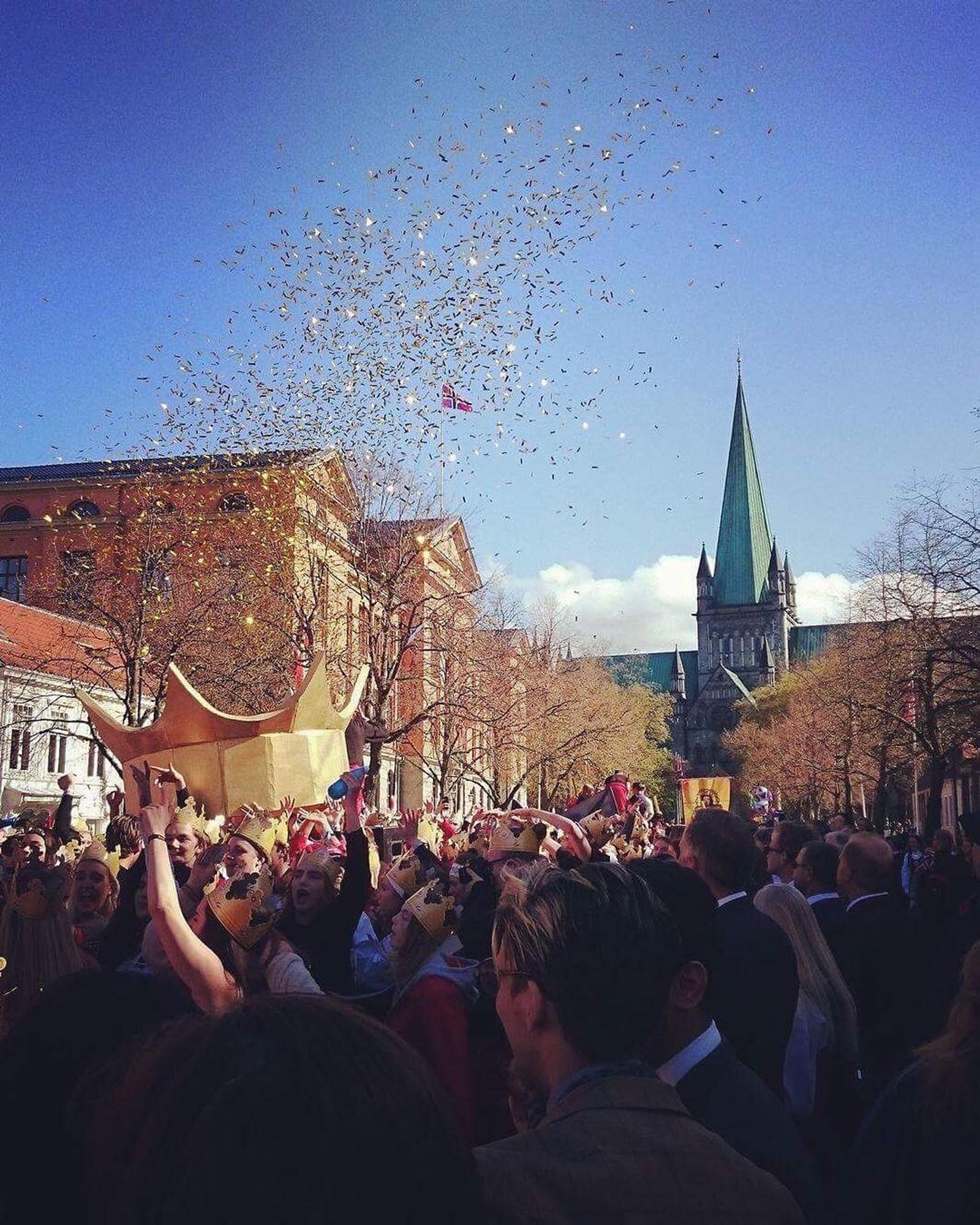 Et flott bilde fra feiringa i Trondheim, delt med oss av Robert.