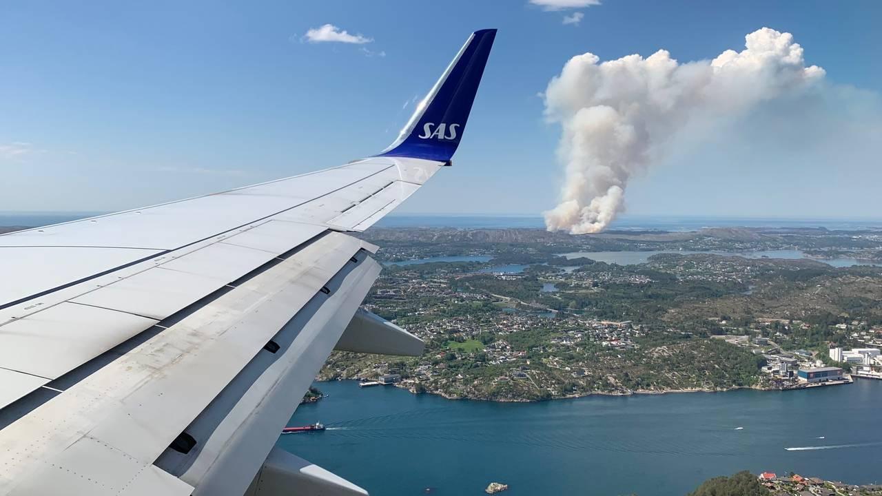 Brannen sett fra luften