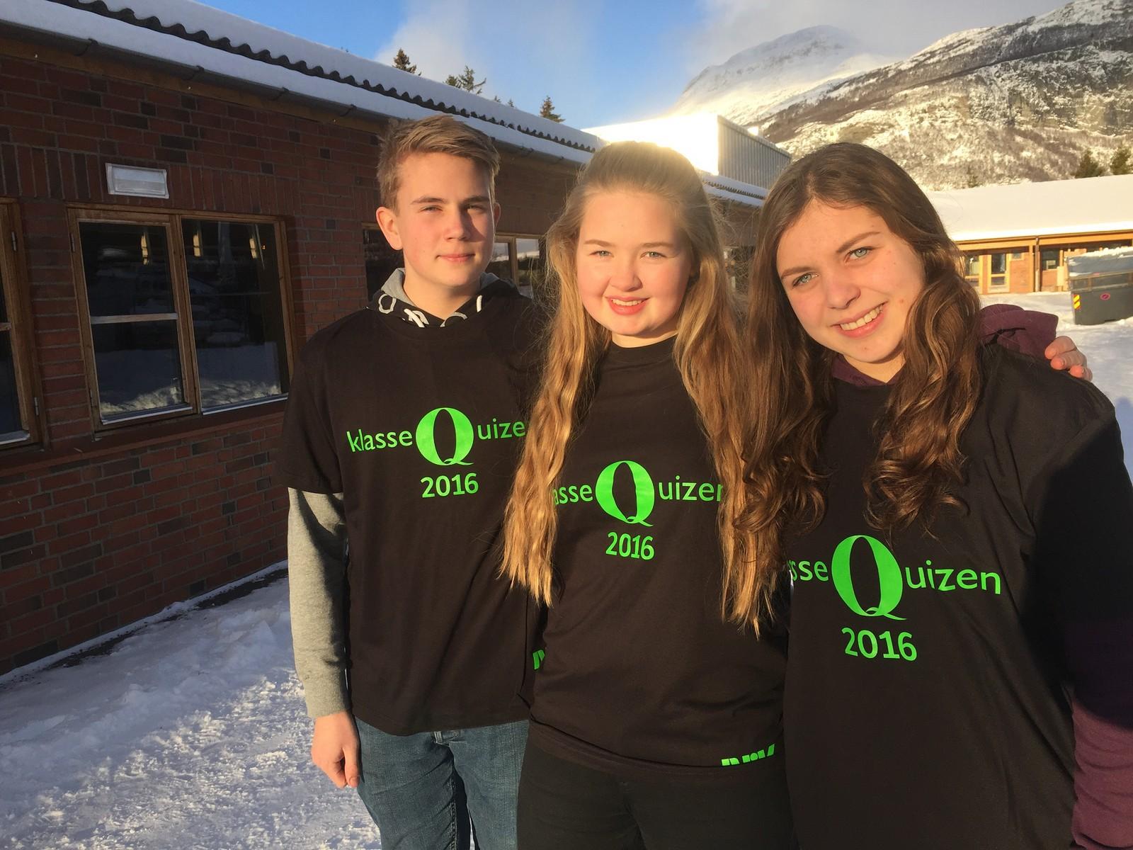 Sander Eltun, Marit Andrisdotter Kvam og Patrycja Mlonek fra Vang barne- og ungdomsskule kan du høre i P1 onsdag 20.1.mellom kl.1430-1500.