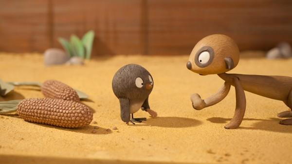 Fransk animasjonserie. Peanøttsamlingen.Det er tid for mat i Ubuyu. Makeba gir peanøtter til Pili, Oko og Diddi. Oko vil ikke spise sin, for han samler på peanøtter.