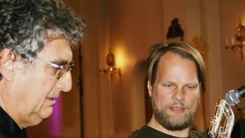 Alvis Vidolin, klangregissør og Bjørnar Habbestad, fløytist