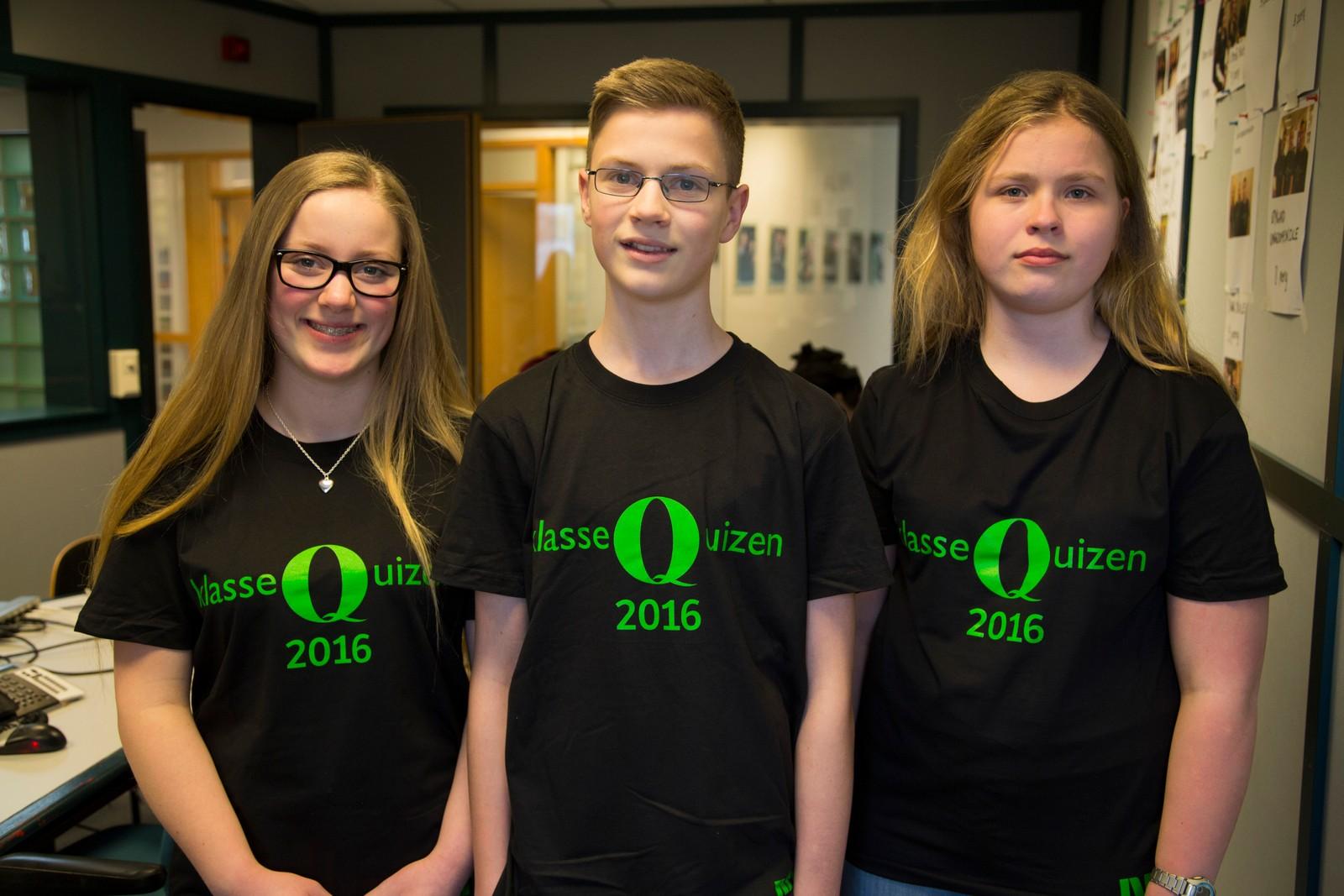 9 POENG: Egersund Samfundets skole: f.v. Helene Dvervsnes, Ørjan Thorsen og Amanda Leidland.