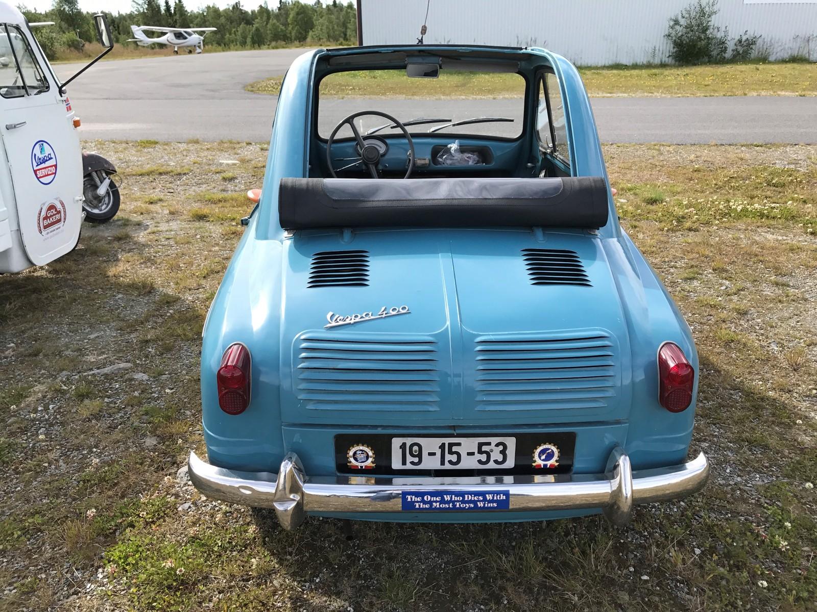 Landets eneste Vespa personbil var også å finne i Hallingdal.
