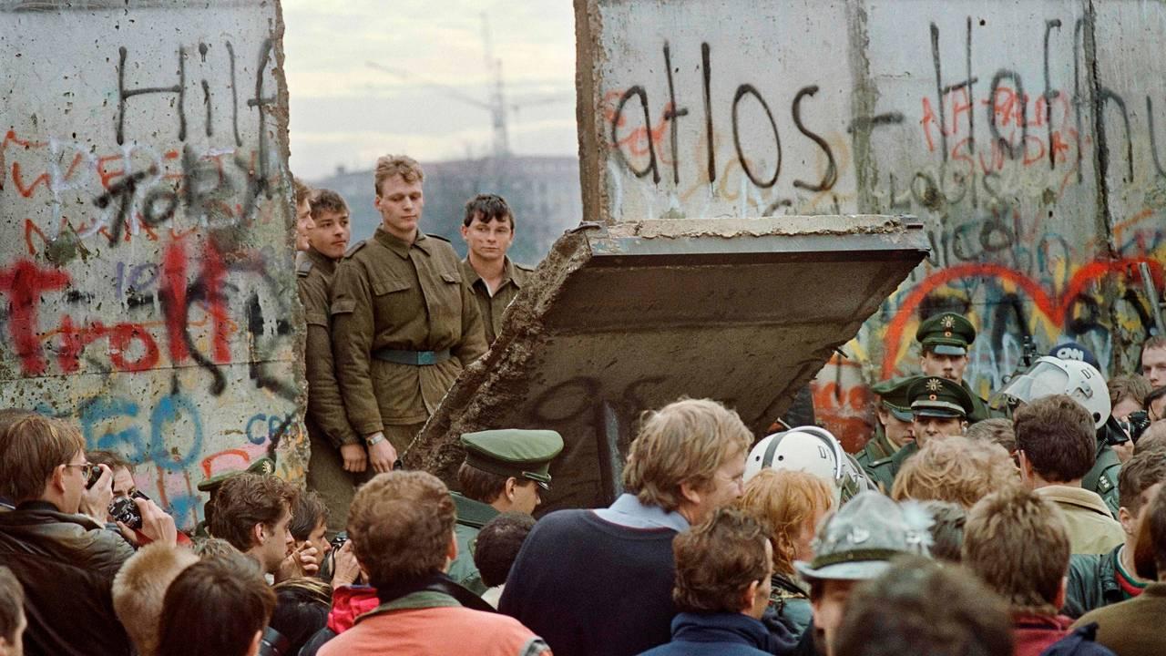 Berlinmurens fall.