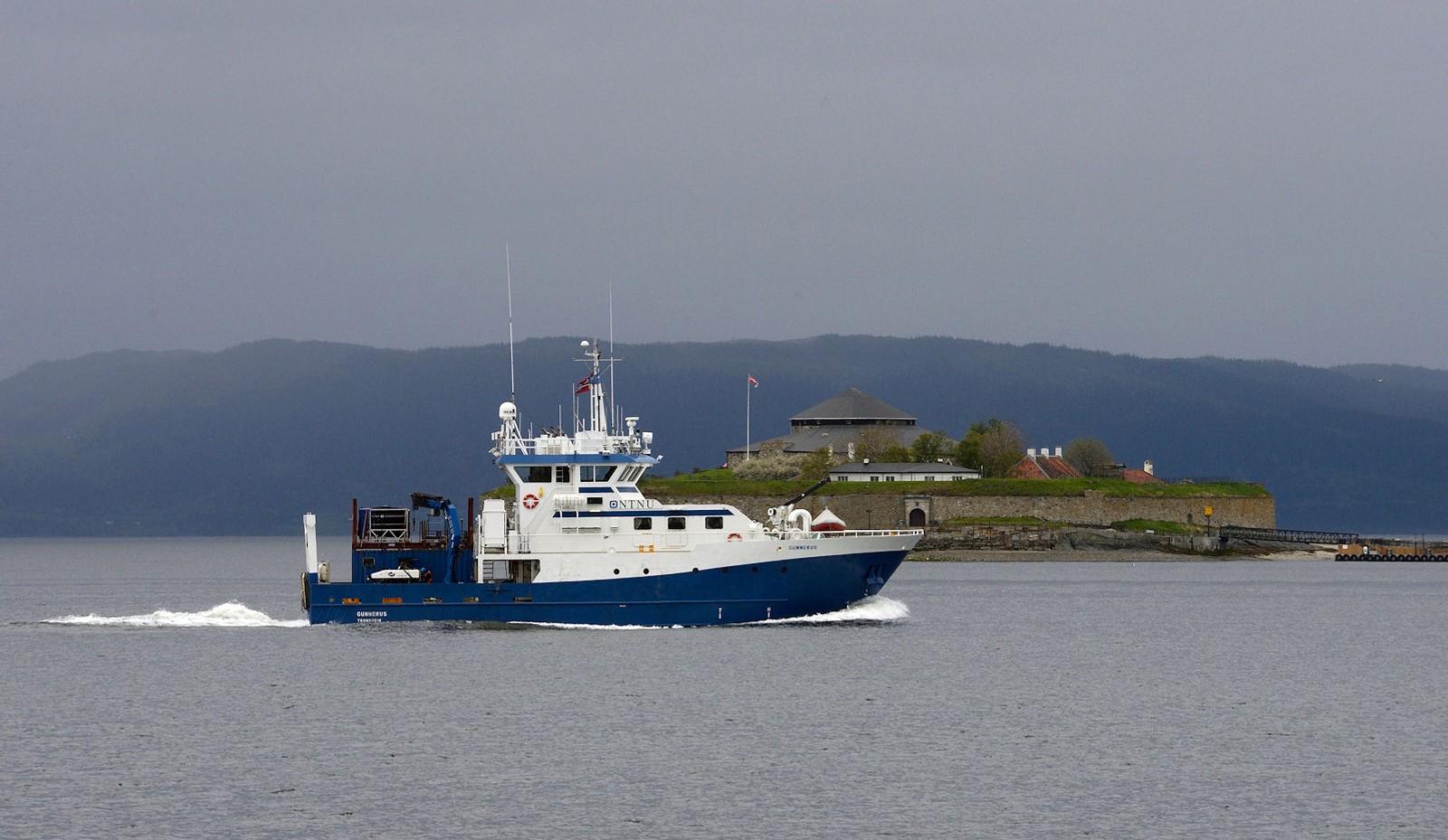 Forskningsfartøyet Gunnerus ved Munkholmen