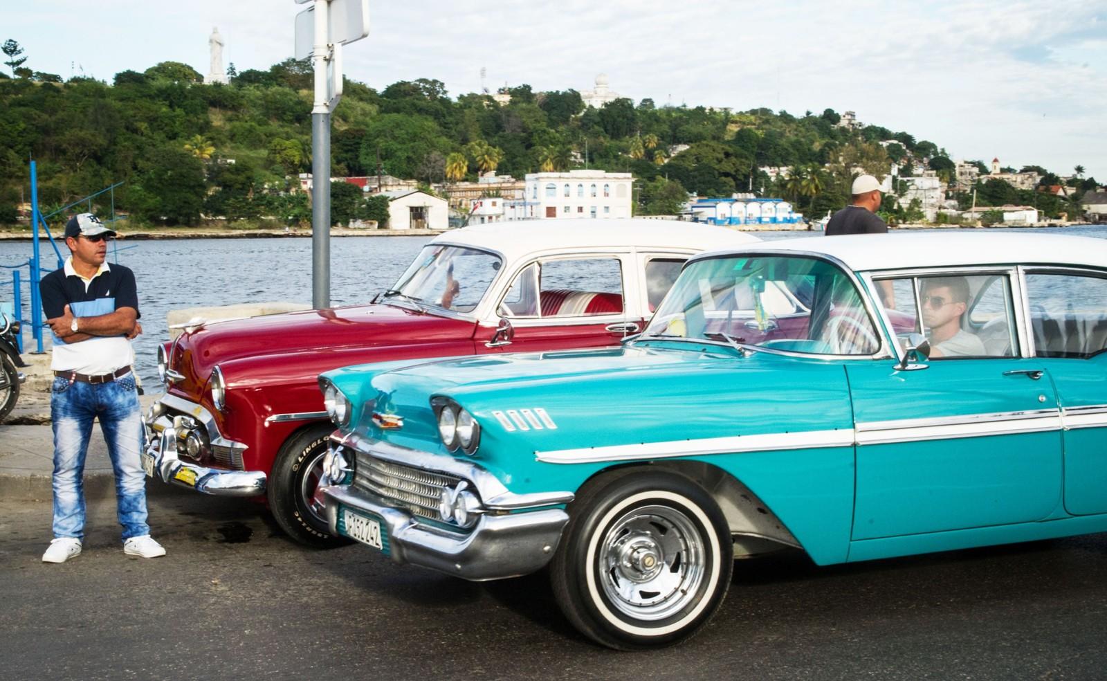 Amerikansk 50-tallsbiler i Havannas gater 19. desember i år.