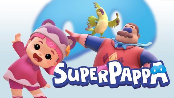 Når pappa kommer hjem fra jobben blir han en superhelt for datteren, Miao.Kanadisk animasjonsserie.