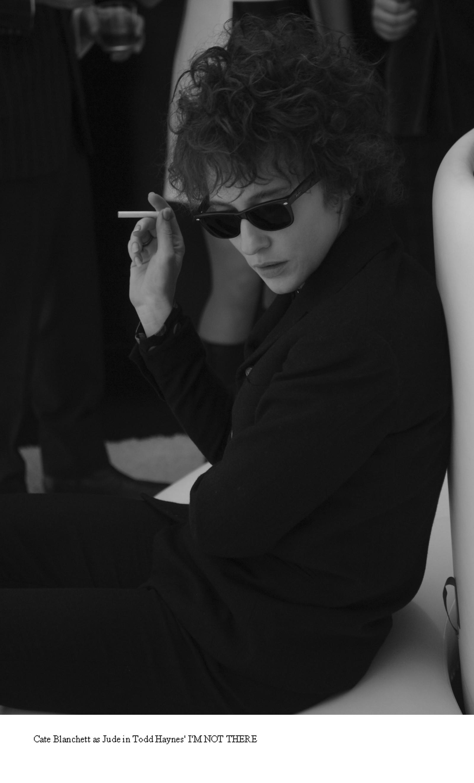 """Figuren Bob Dylan har også vært å se i filmens verden. Her i filmen """"I'm Not There"""" med Cate Blanchett som folkrock-legenden."""