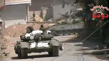 Stridsvogn i Syria