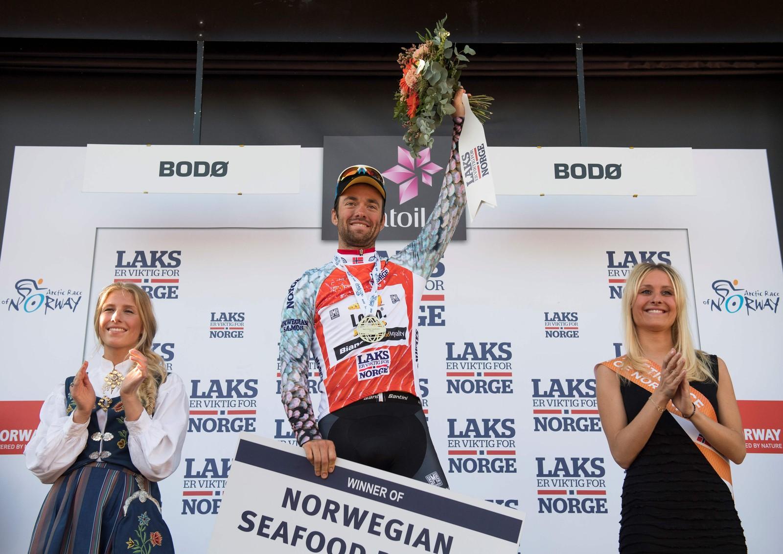 Nederlandske Tom Van Asbroeck fra team Lotto Nl - Jumbo ble vinneren av klatretrøya.