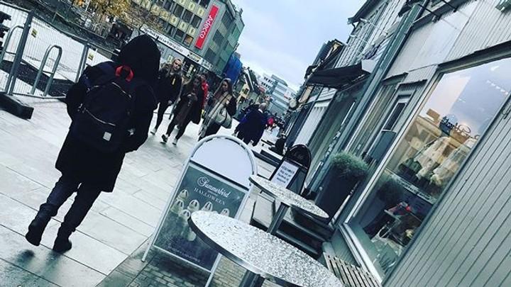 Regn i Tromsø - Foto: Knut Hansvold