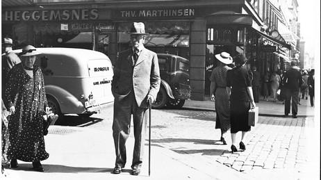 OSLO 1936: Knut Hamsun i Oslo i august 1936. Foto: Scanpix