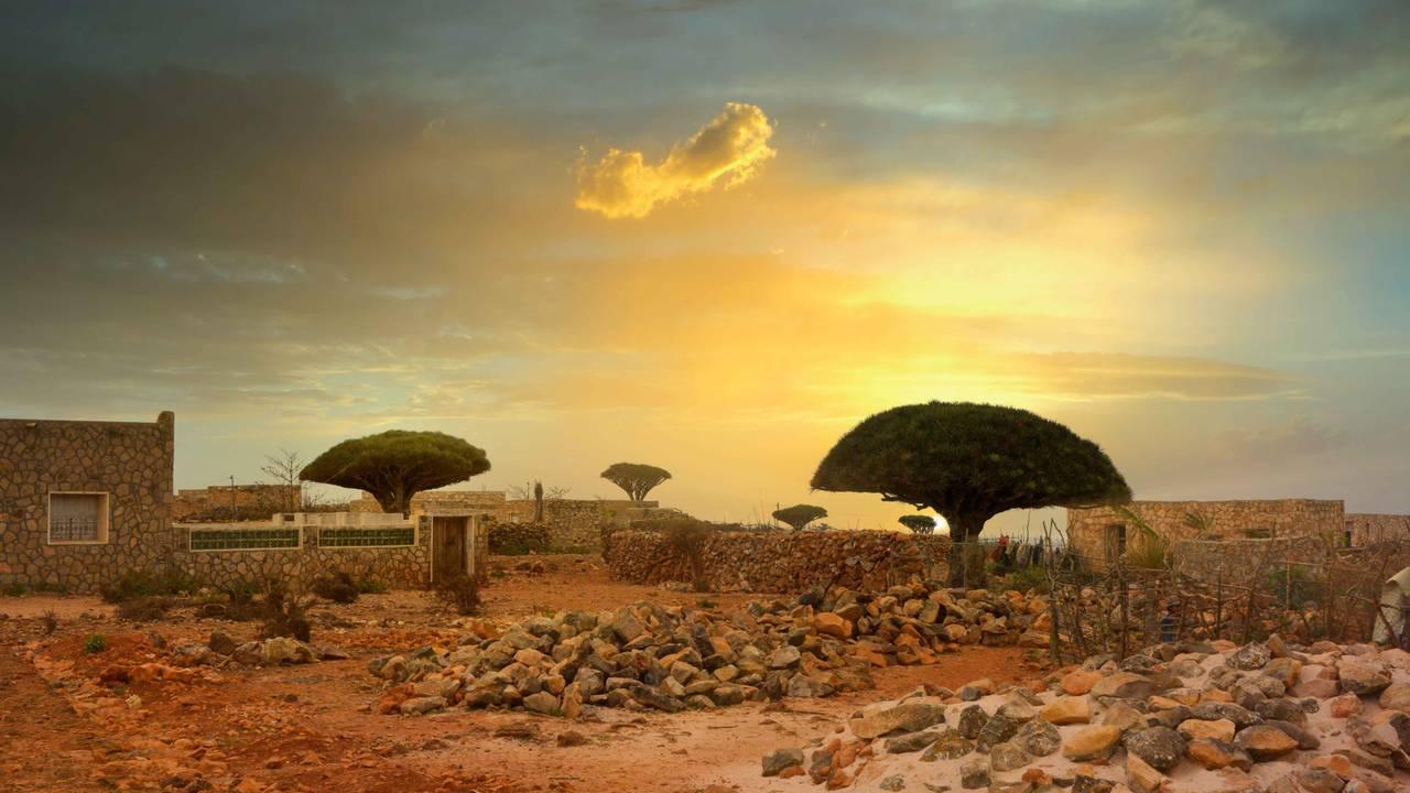 Landsby i Sokotra