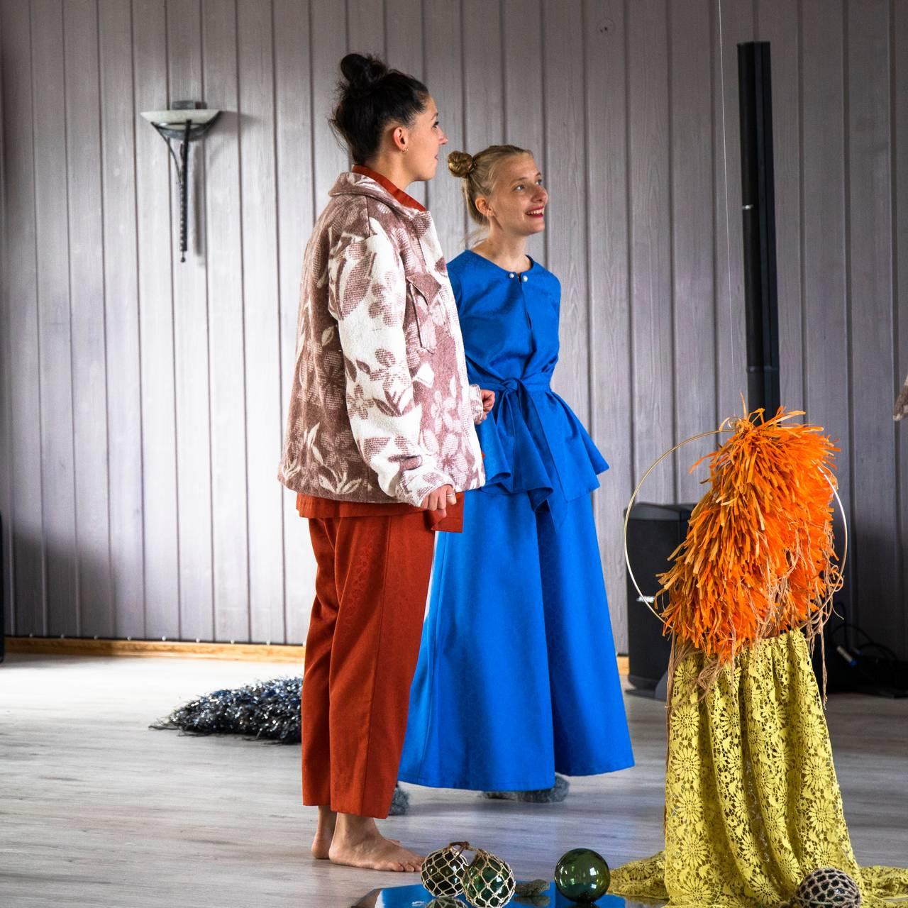 Forberedelser til forestillingen Den samiske halvtimen av Ramona Salo Myrseth