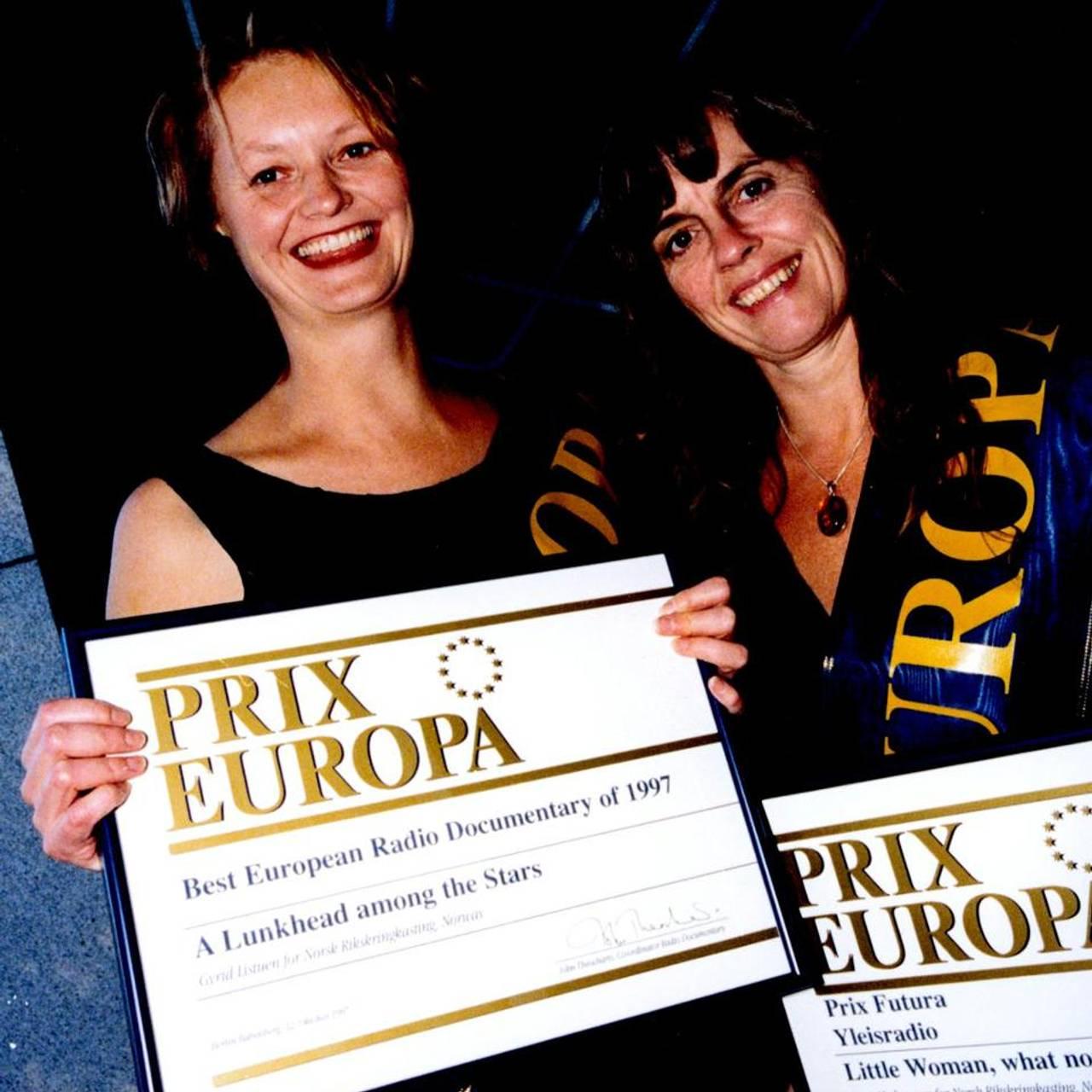 Gyrid Listuen og Berit Hedemann på Prix Europa 1998