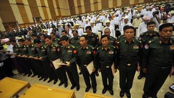 Parliamentsmøte i nasjonalforsamlingen i Myanmar