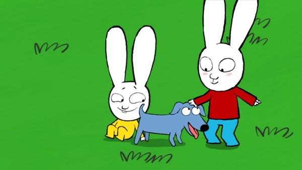 Fransk animasjonsserie. Katt og hund. Simon og Karsten misforstår hunde- og katteatferd når bestefar kommer på besøk med hunden Elvis. De tror at katten deres, Milo, og Elvis slåss, mens de egentlig bare leker.