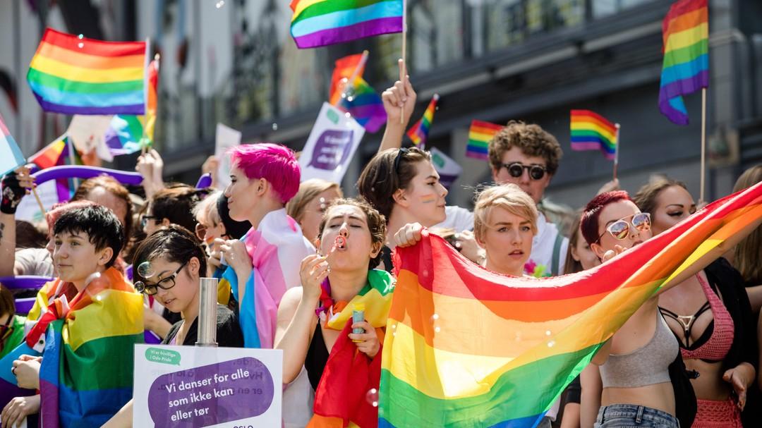 Paraden under Oslo Pride i fjor.