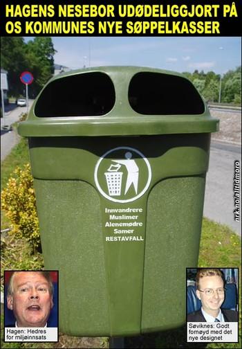 Hagen hedres med søppelkasse