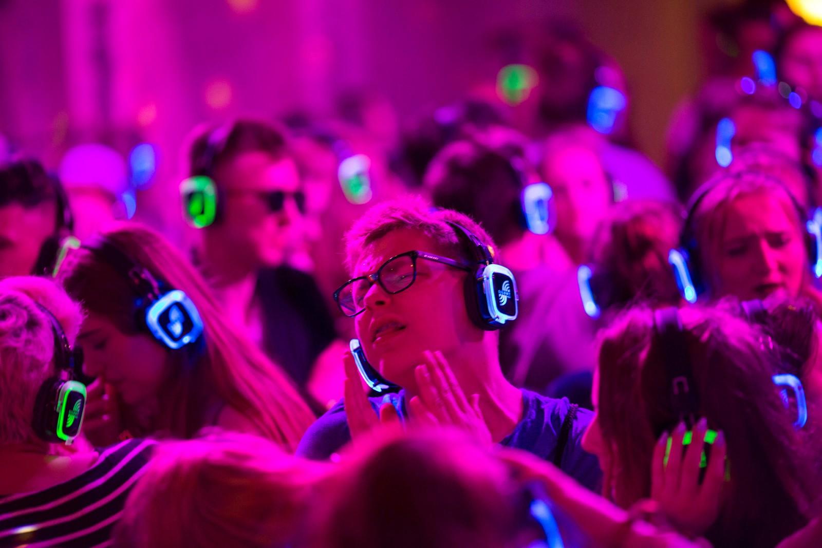 Stilledisko på den polske musikkfestivalen Open'er i Gdynia.