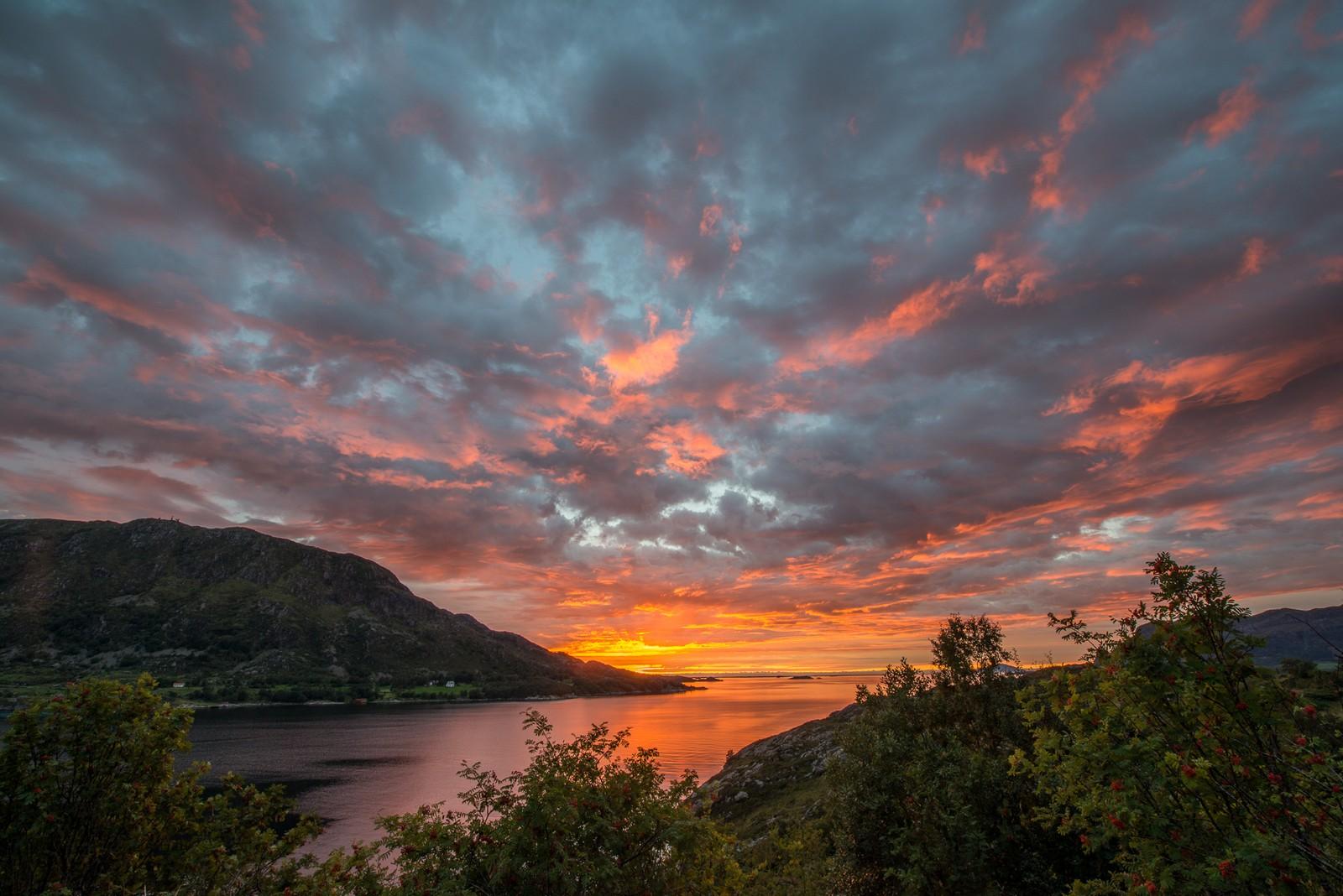 Solnedgang i Askvoll.