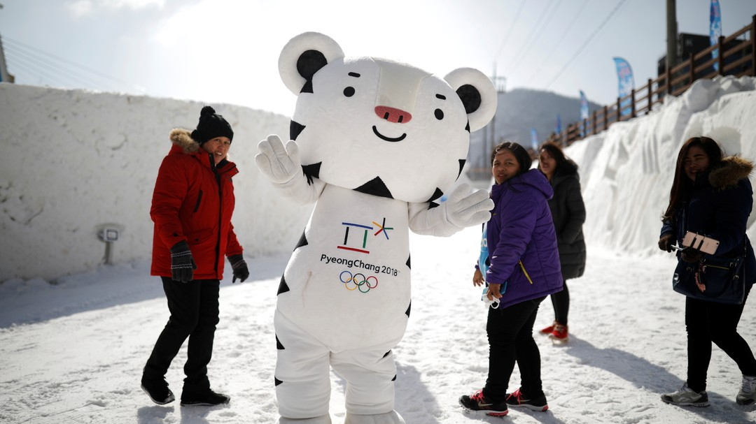 The mascot for the 2018 PyeongChang Winter Olympics Soohorang is seen during the Pyeongchang Winter Festival, near the venue for the opening and closing ceremony of the PyeongChang 2018 Winter Olympic Games in Pyeongchang, South Korea, February 10, 2017. REUTERS/Kim Hong-Ji The mascot for the 2018 PyeongChang Winter Olympics Soohorang is seen during the Pyeongchang Winter Festival in Pyeongchang