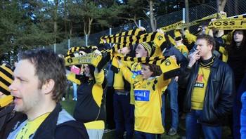 Supportere fra Moss i Sandnes