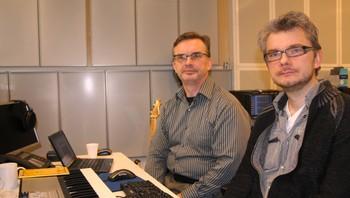 Slagverker- og produsent-duo Kjell Tore Innervik og Mats Claesson