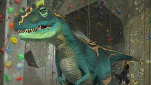 Dinosaurer i klatreveggen
