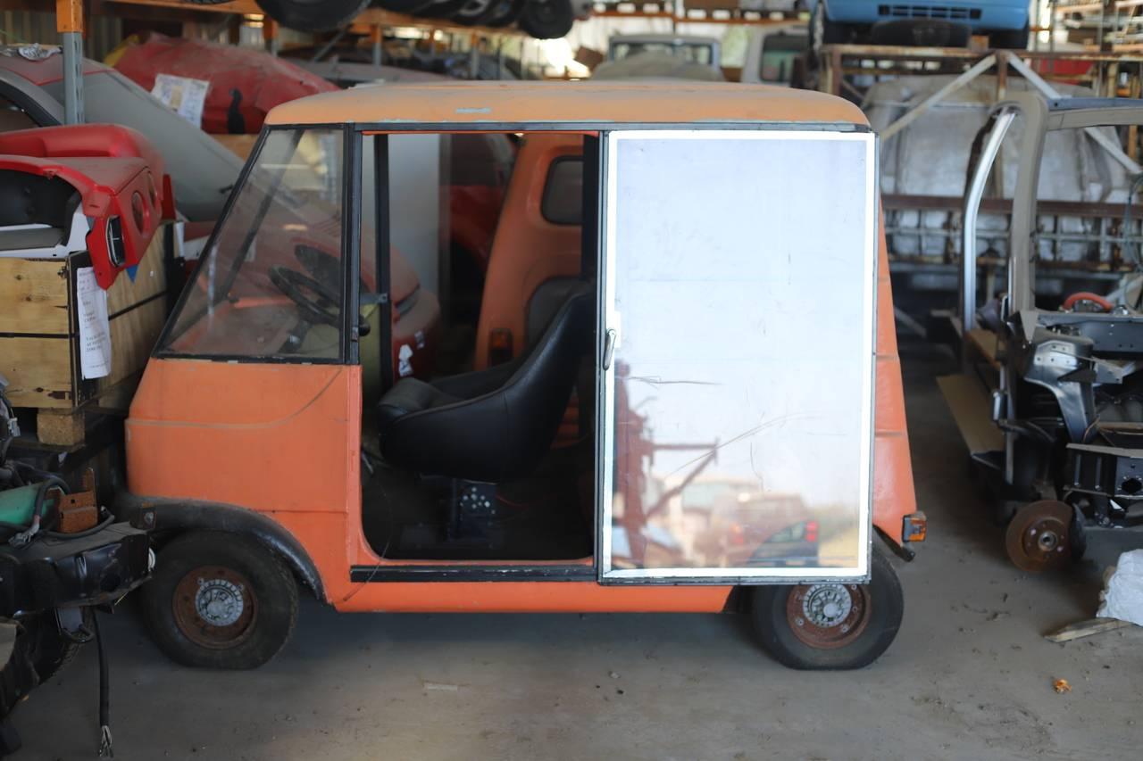 Ringdal seniors prototype fra tidlig 70-tall var en oransje liten bil
