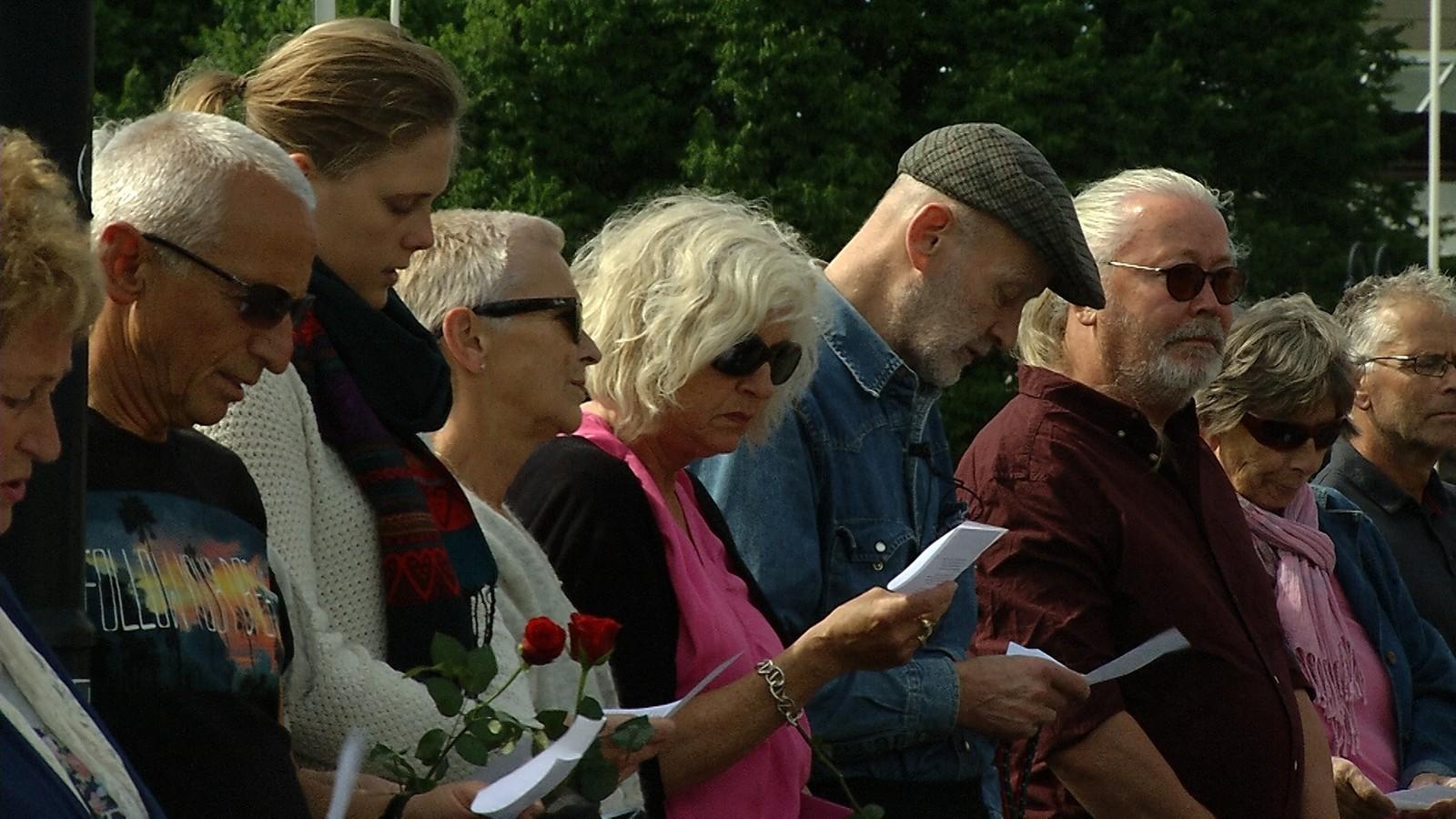 Mange møtte også opp i Haugesund for å markere at det er fem år siden 22. juli-terroren.