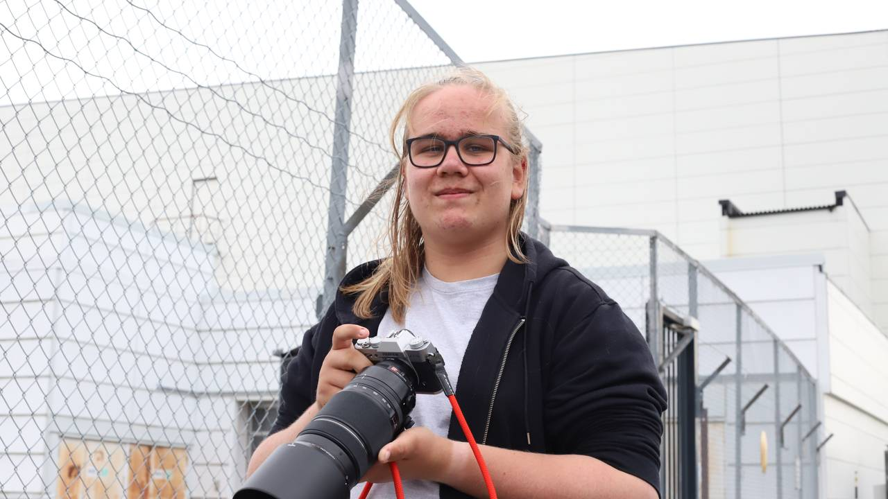 Nikolai Sogn Ung gutt med kamera