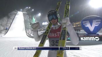 Slovenske Robert Kranjec vant hopprennet i Vikersund. Komm.: Christian Nilssen og Johan Remen Evensen.
