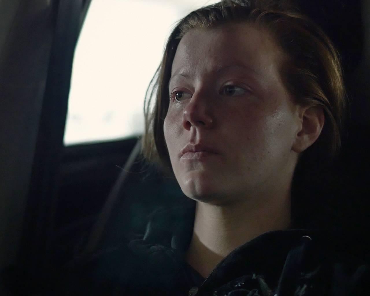 Norun Haugen i bil