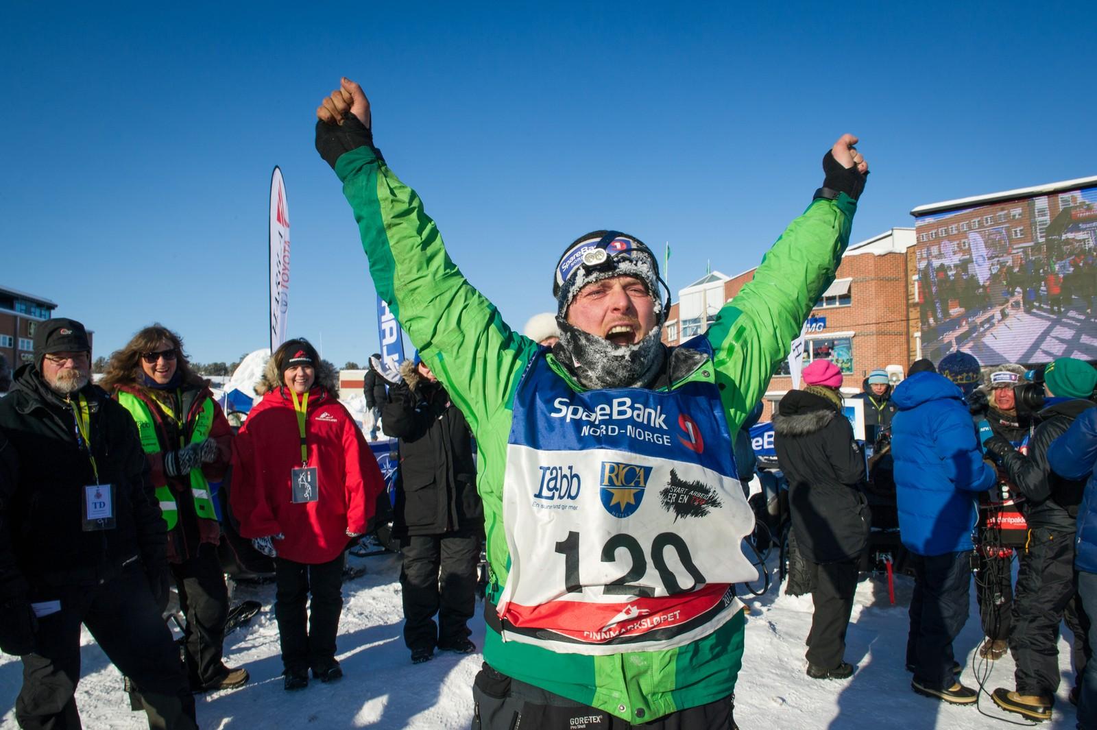 Gleden over at 1000 kilometer er tilbakelagt. Ronny Frydenlund tok 4. plass i 2013.