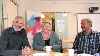 Jon Høyland, Margaret Telfer, Leif Stokka