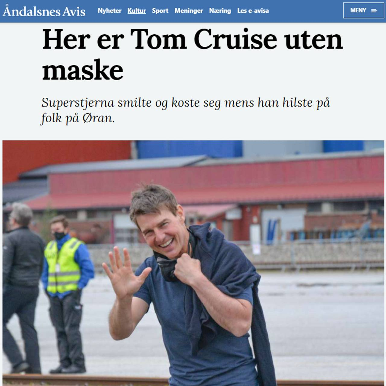 Tom Cruise uten maske