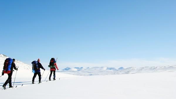 Skiturister i Rondane - Foto: Tine Mjølnerød